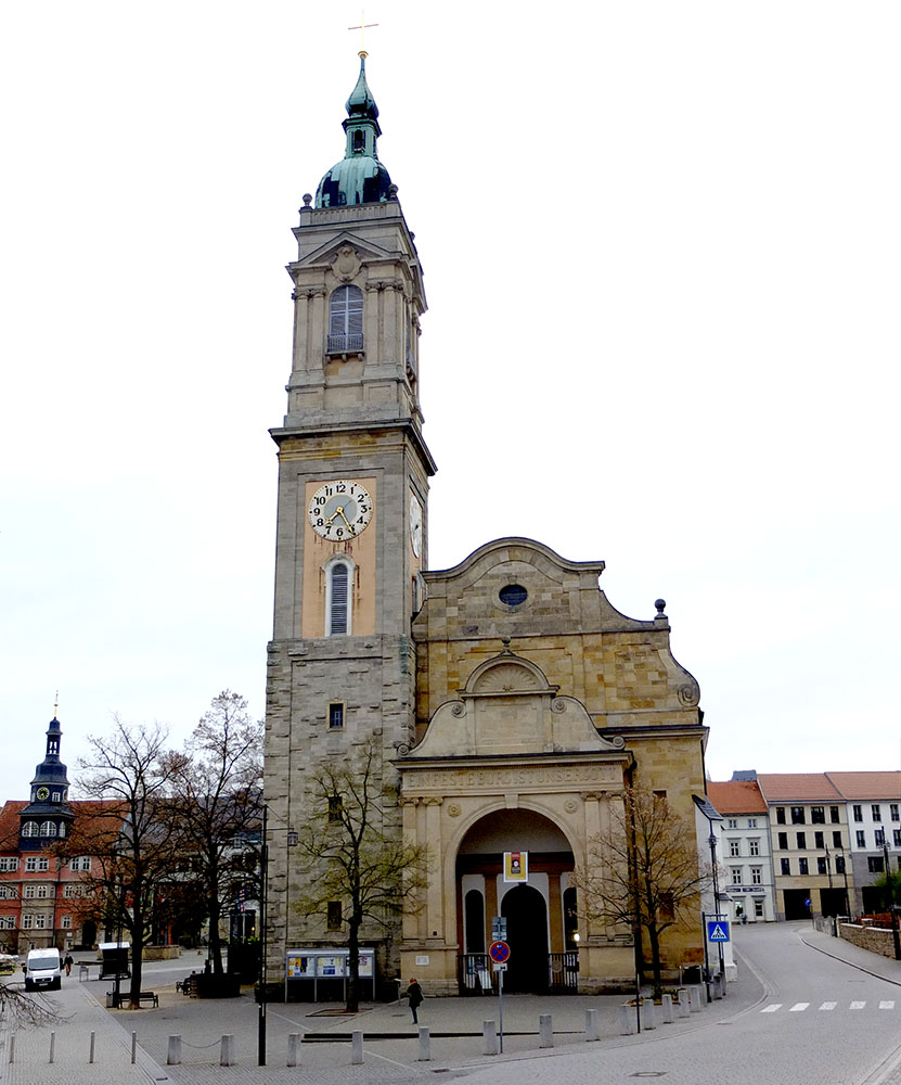 Georgenkirche i Eisenach. Här vigdes Elisabeth 1221, här predikade Luther och här döptes Bach.